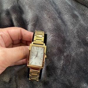 Furla gold watch
